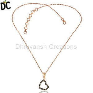 Pave Diamond 925 Silver Chain Pendant Jewelry Manufacturers From India