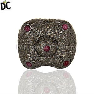 Black Rhodium Plated 925 Silver Ring Jewelry Wholesale