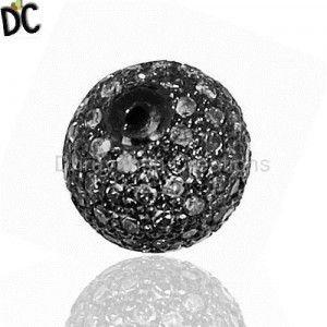 925 Sterling Silver Beads And Balls Jewelry Findings Wholesale from India