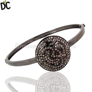 925 Sterling Silver Diamond Bracelet Bangle Wholesale from India