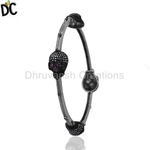 925 Sterling Silver Diamond Bracelet Bangle Suppliers from India
