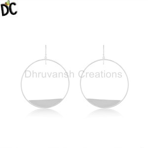 Plain Silver Earrings Manufacturer in India