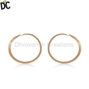Plain Silver Earrings Wholesale in Jaipur
