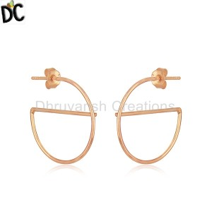 Plain Silver Earrings Manufacturer in Jaipur