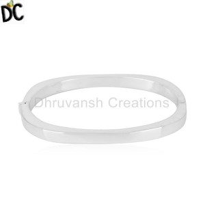 New Arrival 925 Sterling Fine Silver Openable Bangle Jewelry For women