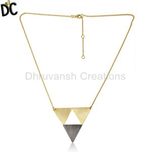 Handmade Geometric Design 925 Sterling Plain Silver Necklaces