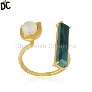Gold Plated 925 Sterling Silver Multi Gemstone Ring Wholesale Suppliers