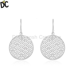 Fine Sterling Plain 925 Silver Designer Earrings Jewelry Manufacturer