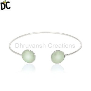 Chalcedony Gemstone 92.5 Silver Jewelry Suppliers From India
