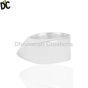 Handmade Plain Silver Ring Jewelry Wholesale