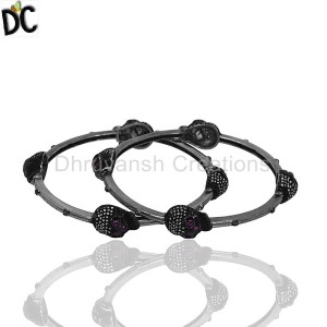 925 Sterling Silver Black Diamond Bracelet Suppliers from India