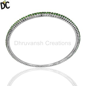 925 Sterling Silver Black Diamond Bracelet Manufacturers from India