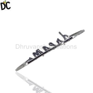 925 Sterling Silver Black Diamond Bracelet Wholesale from India