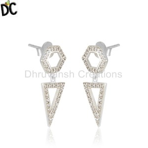 White Silver Earrings Manufacturer in India