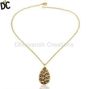 Gold,Black Plated Fashion Pendant And Necklace Supplier from India