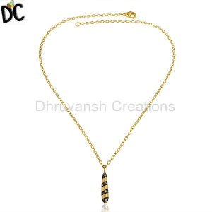 Gold,Black Plated Fashion Pendant And Necklace Wholesale from India