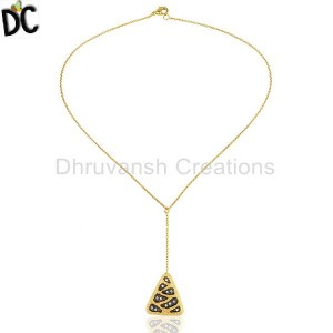 Gold,Black Plated Fashion Pendant And Necklace Suppliers from India