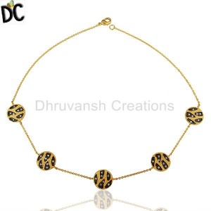 Gold,Black Plated Fashion Pendant And Necklace Manufacturers from India