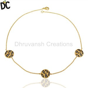 Gold,Black Plated Fashion Pendant And Necklace Manufacturer from India