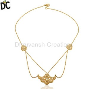 Gold Plated Fashion Pendant And Necklace Manufacturers from India