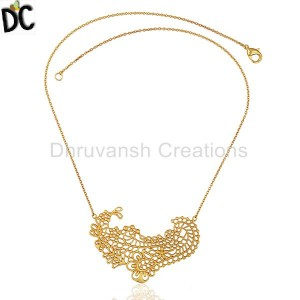 Gold Plated Fashion Pendant And Necklace Wholesale from India