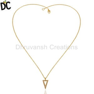 Gold Plated Fashion Pendant And Necklace Suppliers from India
