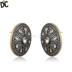 GoldBlack Silver Earrings Manufacturer in Jaipur