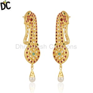 Gold Silver Earrings Wholesale in India