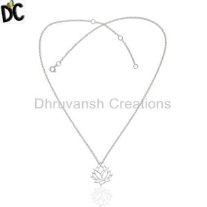 Handmade Plain Silver Pendant And Necklace Jewelry Suppliers