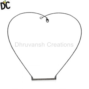 Black Silver Pendant And Necklace Supplier in India
