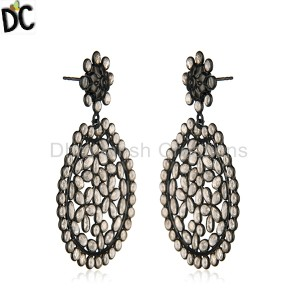 Black Silver Earrings Wholesale in India