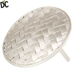 925 Sterling Silver Plated Brass Wire Wrapped Belt Buckle Clasp Jewelry
