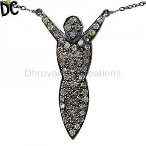 925 Sterling Silver Single Pendent Pendant And Necklace Manufacturer from India