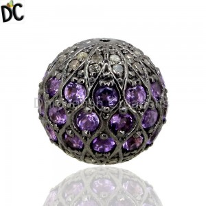 925 Sterling Silver Beads And Balls Jewelry Findings Manufacturer from India