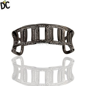 925 Sterling Silver Diamond Bracelet Bangle Manufacturers from India
