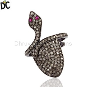 925 Sterling Silver Cocktail Ring Manufacturers from India