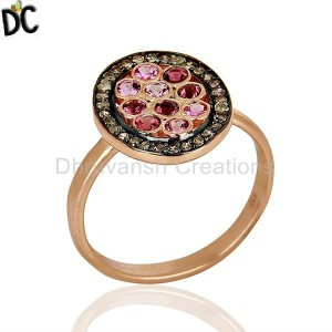 925 Sterling Silver Rose Gold Plated Ring Wholesale