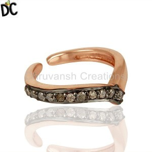 Diamond Rings 925 Silver Rose Gold Plated Ring Jewelry Suppliers From Jaipur