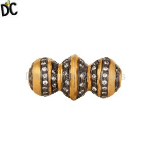 Vintage Look 22K Gold Plated 925 Sterling Silver European Charm Beads Jewelry
