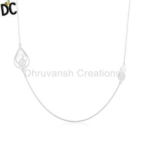 Pineapple Design Fine Sterling Silver Chain Necklace Manufacturer in India