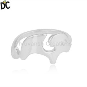 925 Fine Sterling Silver Elephant Shape Womens Ring Jewelry