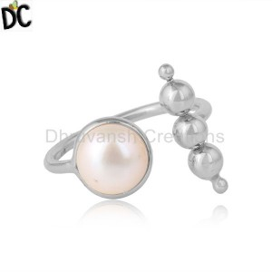 Handmade 925 Sterling Silver Designer Natural Pearl Ring Jewelry