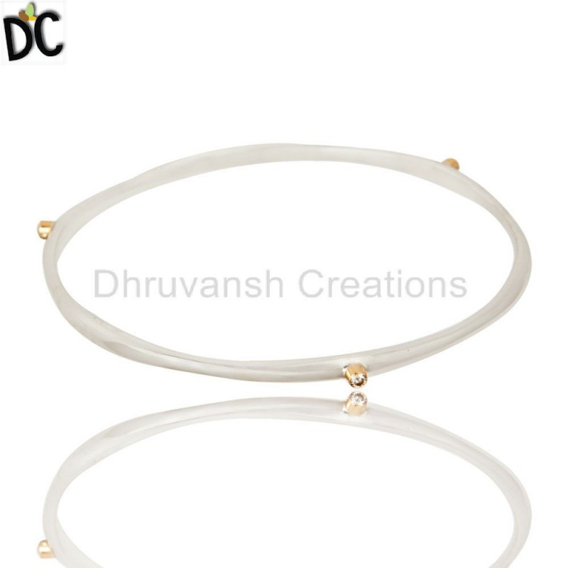 3 Pcs Diamond stacking bangle Silver Wholesale jewelry Manufacturer