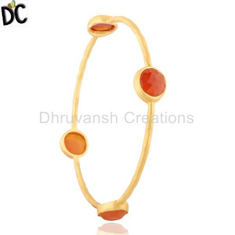 Carnelian Gemstone 925 Silver Bangle Bracelet jewelry Wholesaler