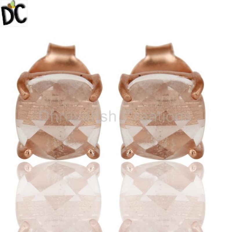 925 Silver Cut Crystal Prong Set Earrings wholesale jewelry Supplier