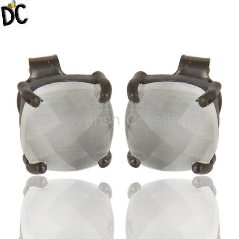 925 Silver White Moonstone Earrings jewelry manufacturers Supplier