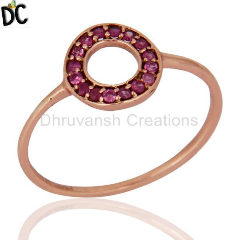 Solid Gold Pink Sapphire Gemstone Ring Manufacturer of Gold Jewelry