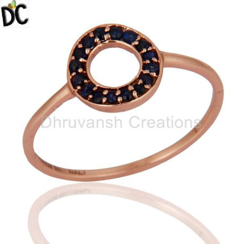 Blue Sapphire Gemstone Solid Gold Ring Manufacturer of Ring Jewelry