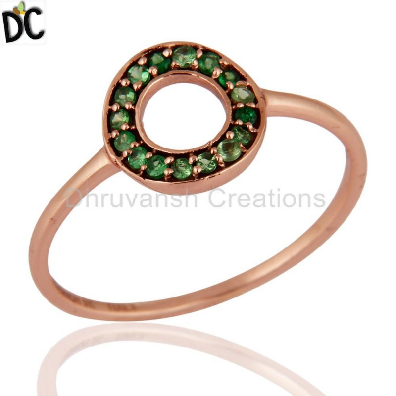 Tsavorite Gemstone Solid Gold Ring Manufacturer personalized jewelry