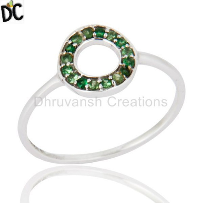 Solid Gold Tsavorite Gemstone Ring Wholesaler of Customized Jewelry